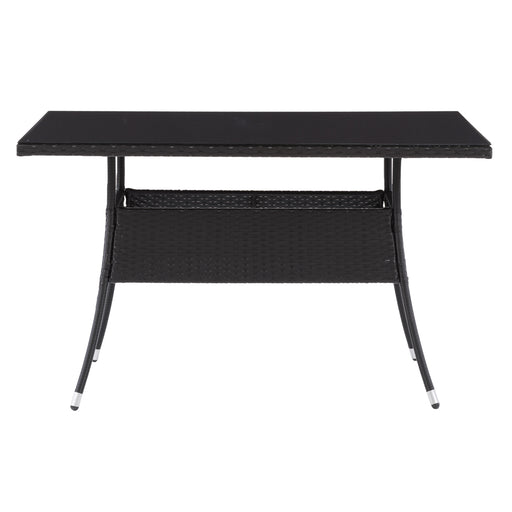 Parksville Patio Dining Table Rectangle - Black Finish