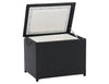 Parksville Black Rattan Insulated Cooler Table
