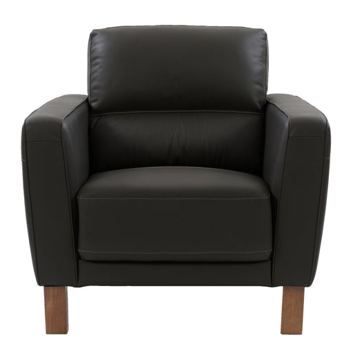 Genuine Leather Chair with Detail Stitching