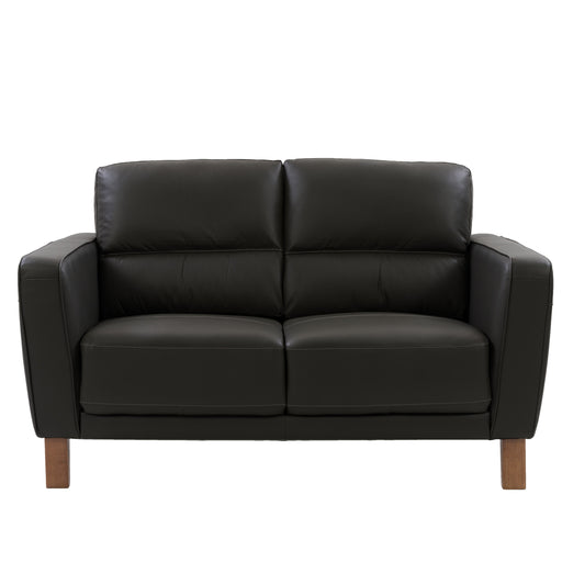 Genuine Leather Loveseat with Detail Stitching