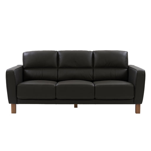 Genuine Leather Sofa with Detail Stitching *CLEARANCE*