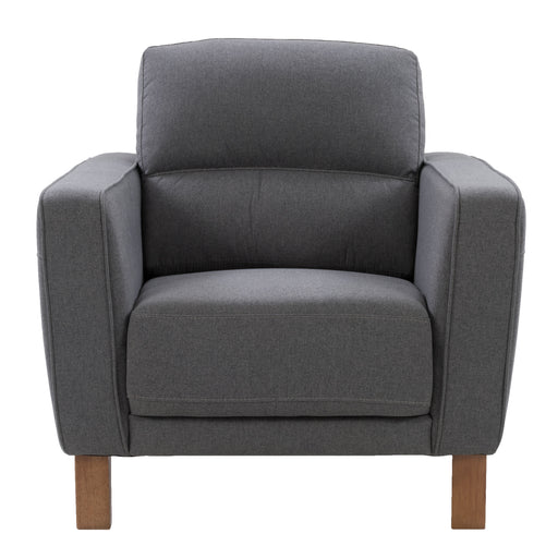 Ultra Soft Fabric Chair with Detail Stitching, Medium Grey *CLEARANCE*