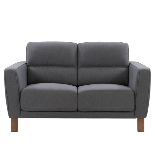 Ultra Soft Fabric Loveseat with Detail Stitching, Medium Grey *CLEARANCE*