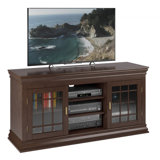 "Dark Espresso Wooden TV Stand, for TVs up to 68"" - *CLEARANCE*"