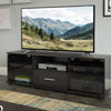 Fernbrook Black Wooden TV Stand, for TVs up to 70""
