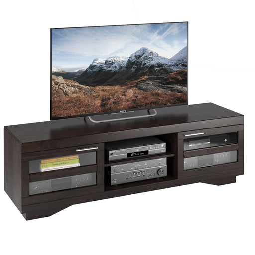 Granville Mocha Black Wooden TV Stand, for TVs up to 80""
