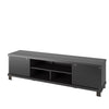 Holland Black Wooden Extra Wide TV Stand, for TVs up to 85""