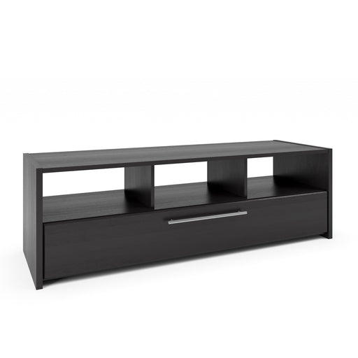Naples Black Wooden TV Bench, for TVs up to 75""