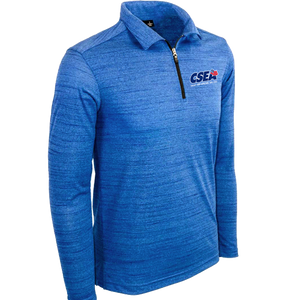 Men's Long Sleeve 1/4 Zip Polo - Royal