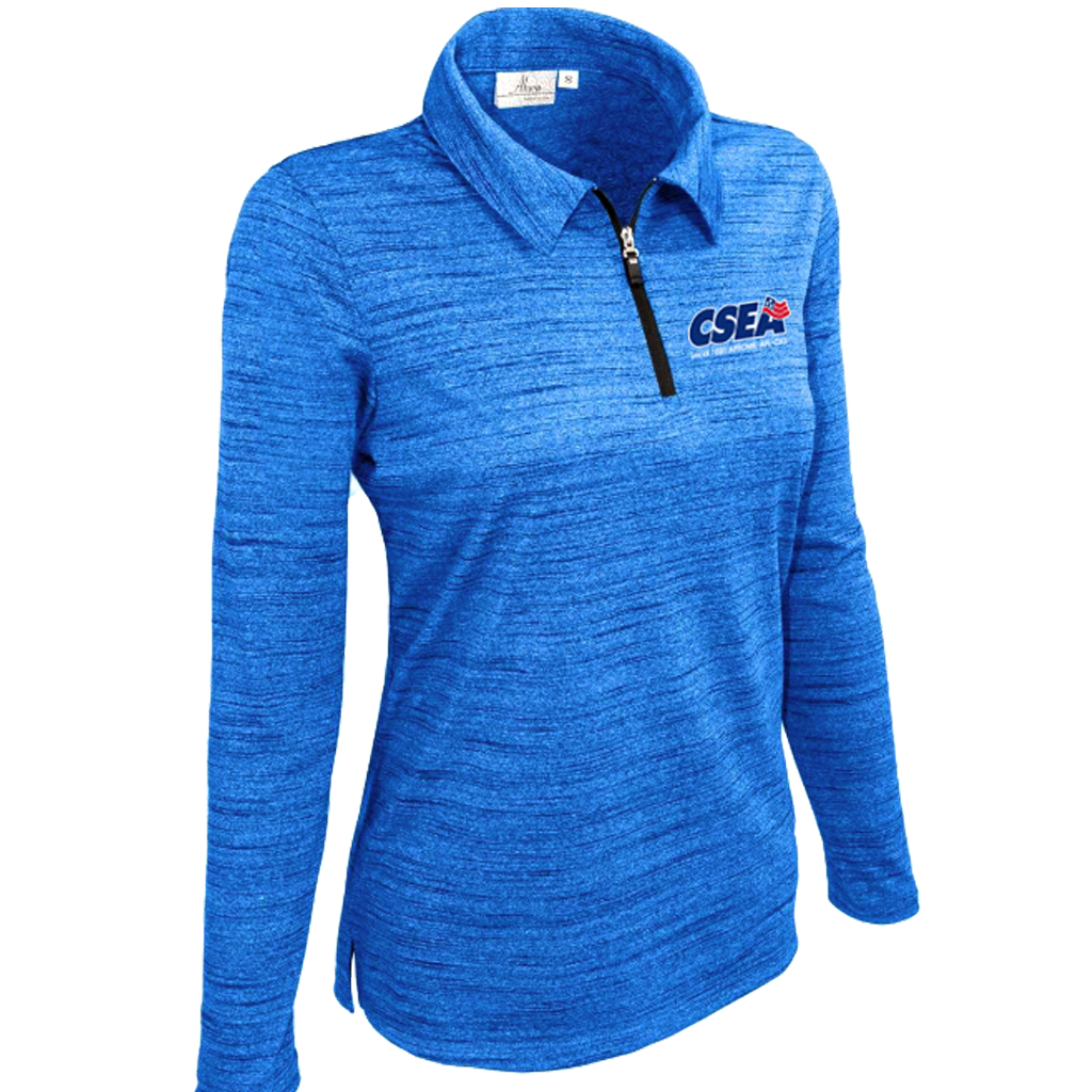 Ladies' Long Sleeve 1/4 Zip Polo - Royal