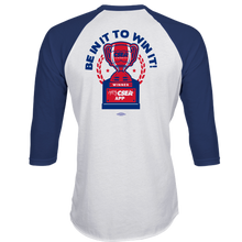 Load image into Gallery viewer, FOR QUIZ WINNERS ONLY - 3/4 Sleeve TriBlend Raglan Shirt