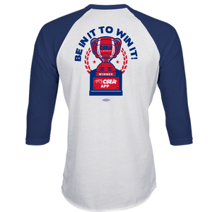 FOR QUIZ WINNERS ONLY - 3/4 Sleeve TriBlend Raglan Shirt