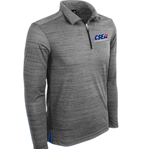Men's Long Sleeve 1/4 Zip Polo - Charcoal