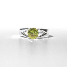 Load image into Gallery viewer, Brillante Ring Peridot Sterling Hannah Daye & Co