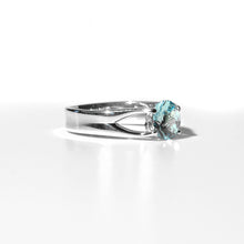 Load image into Gallery viewer, Brillante Ring Swiss Blue Topaz side view Sterling Hannah Daye & Co
