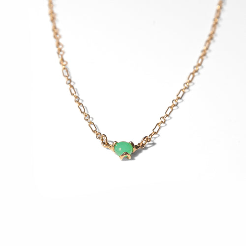 Fiore Chrysoprase 14k gold necklace Hannah Daye & Co