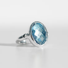 Load image into Gallery viewer, Sabine Ring Swiss Blue Topaz North South  Hannah Daye & Co