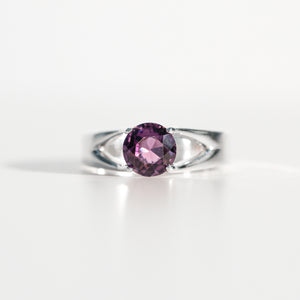 Amethyst Brillante Sterling Silver Ring Hannah Daye & Co