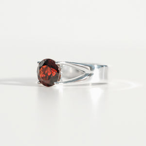 Garnet Brillante Sterling Silver Ring Hannah Daye & Co