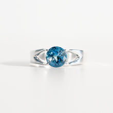 Load image into Gallery viewer, London Blue Topaz Brillante Sterling Silver Ring Hannah Daye & Co