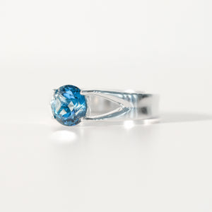 London Blue Topaz Brillante Sterling Silver Ring Hannah Daye & Co