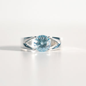Sky Blue Topaz Brillante Sterling Silver Ring Hannah Daye & Co