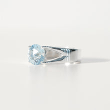 Load image into Gallery viewer, Sky Blue Topaz Brillante Sterling Silver Ring Hannah Daye & Co