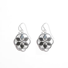 Load image into Gallery viewer, Rosette Dangle Earrings