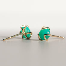 Load image into Gallery viewer, Fiore Earrings in Mint Chrysoprase in 14k gold Hannah Daye & Co