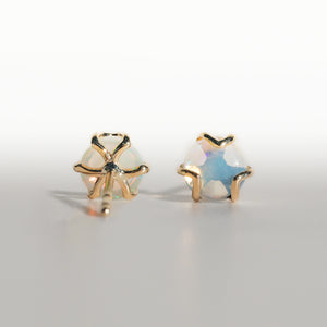 Fiore Earrings in Opal in 14k gold Hannah Daye & Co