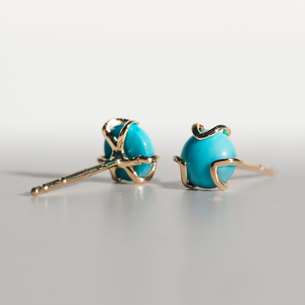Fiore Earrings in Turquoise in 14k Gold Hannah Daye & Co