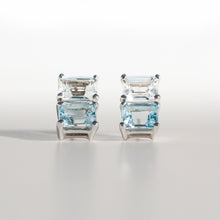 Load image into Gallery viewer, Lexington Earrings White Topaz and Sky Blue Topaz in sterling silver Hannah Daye & Co