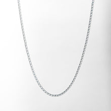 Load image into Gallery viewer, Venetian Necklace box chain in Sterling Silver Hannah Daye & Co