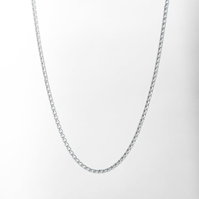 Venetian Necklace box chain in Sterling Silver Hannah Daye & Co