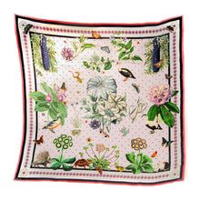 Load image into Gallery viewer, Rosette Silk Scarf Lilac Hannah Daye and Co