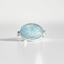 Load image into Gallery viewer, Sabine Ring Milky Aquamarine in sterling silver Hannah Daye & Co