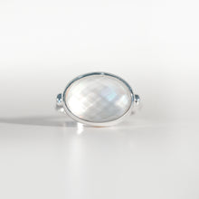 Load image into Gallery viewer, Sabine Ring Mother of Pearl doublet in sterling silver Hannah Daye & Co