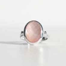 Load image into Gallery viewer, Sabine Ring Rose Quartz in sterling silver Hannah Daye & Co