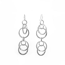 Load image into Gallery viewer, Saturn doubles earrings in sterling silver Hannah Daye & company