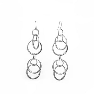Saturn doubles earrings in sterling silver Hannah Daye & company