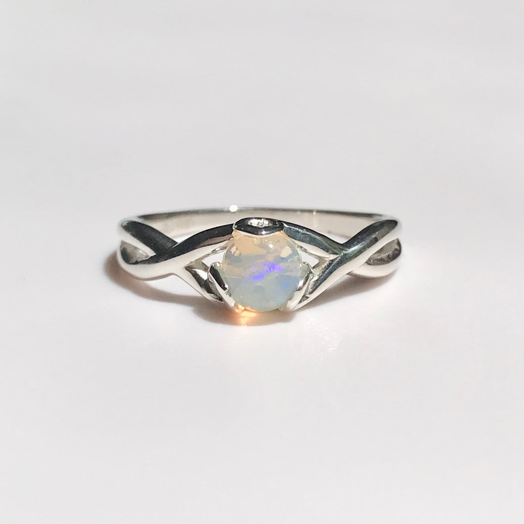 FIore Ring sterling silver Opal Hannah Daye & Co