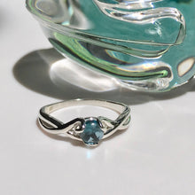 Load image into Gallery viewer, Fiore Ring Sterling Silver London Blue Topaz Hannah Daye & Co