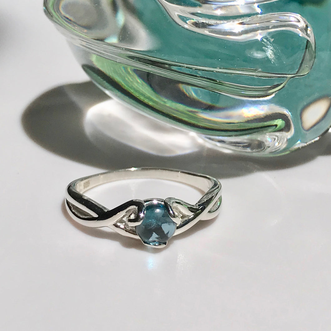 Fiore Ring Sterling Silver London Blue Topaz Hannah Daye & Co