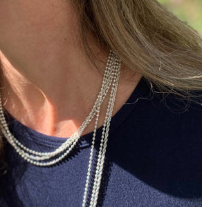 Doubled up Triple Strand Wrap necklace Hannah Daye & Co