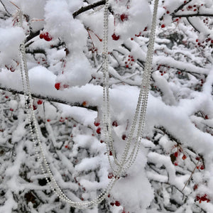 Triple Strand Wrap Necklace in snow Hannah Daye & Co