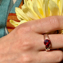 Load image into Gallery viewer, Garnet Brillante Ring with mum Hannah Daye & Co