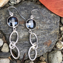 Load image into Gallery viewer, Cascade Earrings Hematite Sterling Silver Hannah Daye & Company