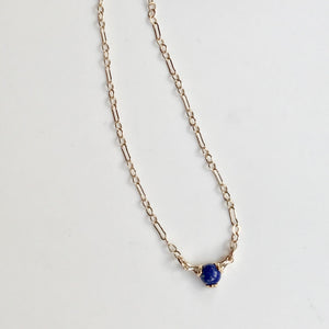 Fiore Gemstone 14k gold necklace Lapis Hannah Daye & Co