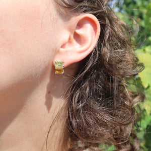 Citrine Lexington Earrings wearing Hannah Daye & Co