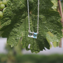 Load image into Gallery viewer, Lexington Necklace Sky Blue Topaz and Mint Quartz with grapevine Hannah Daye & Co